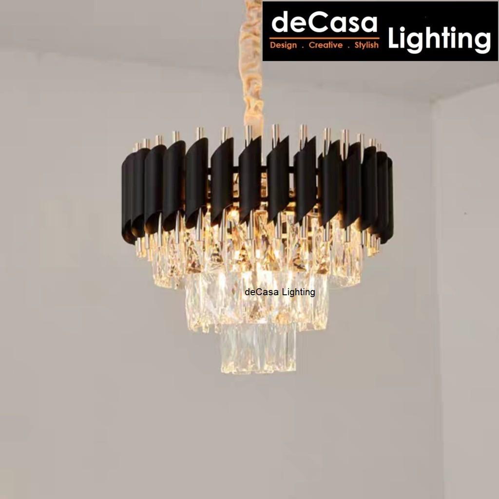 DECASA LIGHTING Crystal Pendant Light New Design Ceiling Light E14 Holder Best Seller Designer Hanging Lamp (2165-400)