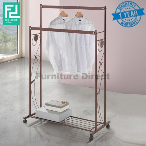 Furniture Direct BENNIS BS1012 wrought iron clothes hanger with organiser