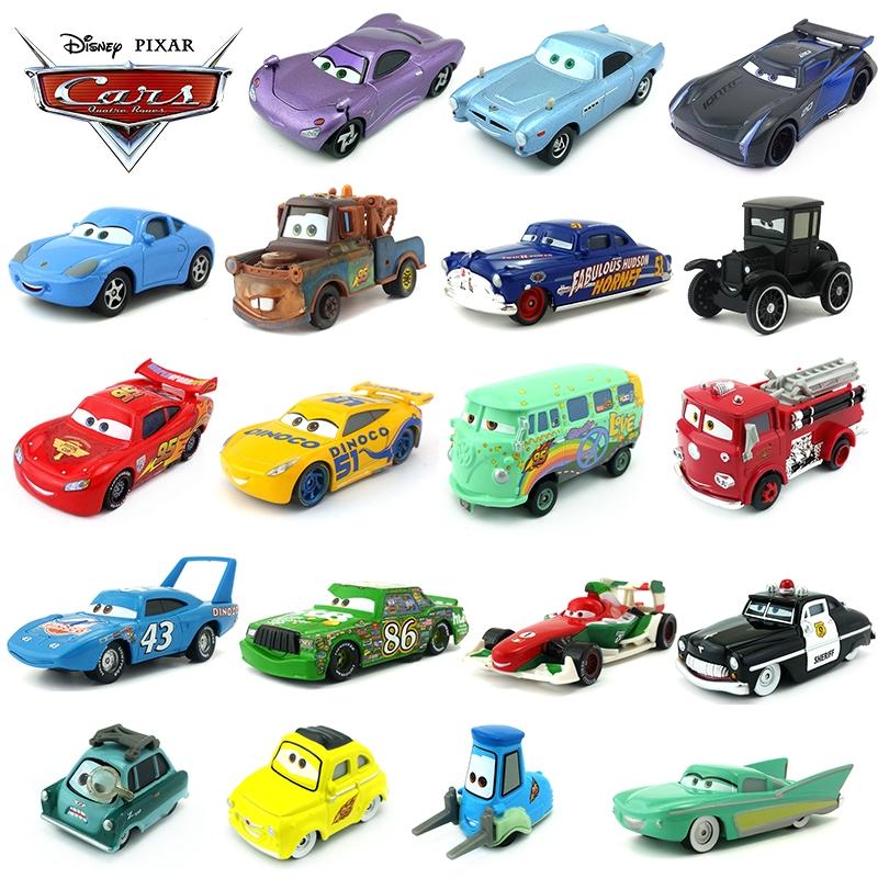 97ea0d68eef8 Disney Pixar Cars 3 Lightning McQueen Mater Jackson Storm Ramirez 1:55  Diecast Metal Alloy Model Toy Car Gift