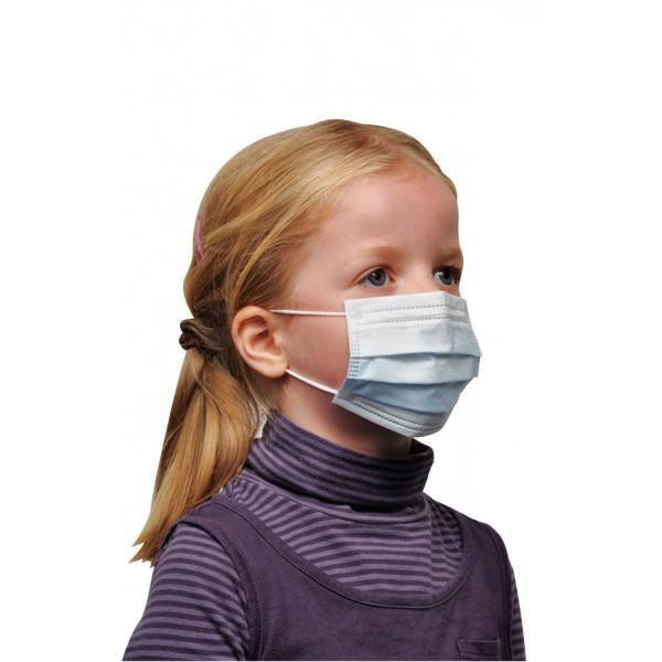 Child Face Mask 3 Ply 50S X 10 Box