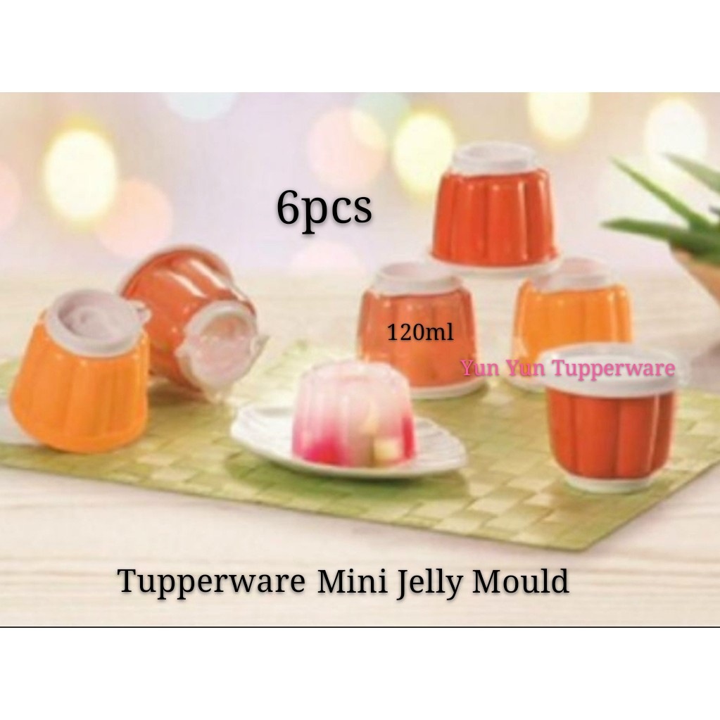Tupperware Mini Jelly Mold Cup Container Set (6) 120ml