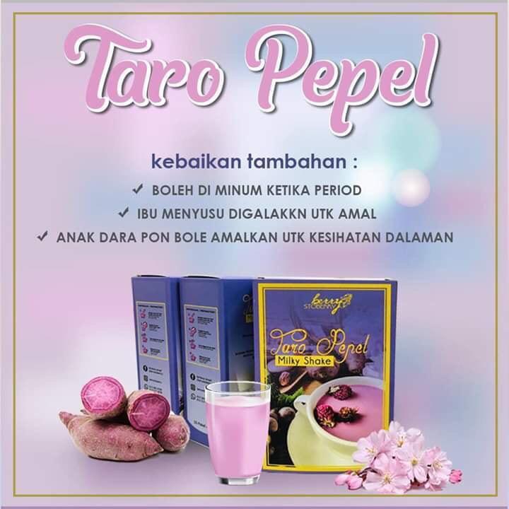 TARO PEPEL MILKY SHAKE BY BERRY STOBERRY 2BOX 5SACHET X 25G 100% ORIGINAL HQ+FREEGIFT