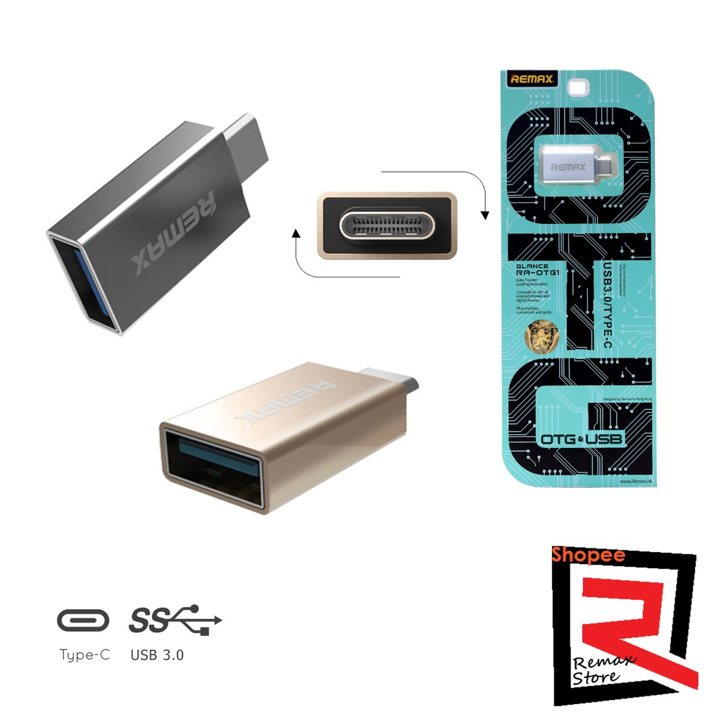 Remax Glance Ra Otg1 Otg Usb 30 To Type C Converter Silver Update Orico Cta1 31 Adapter Shopee Malaysia