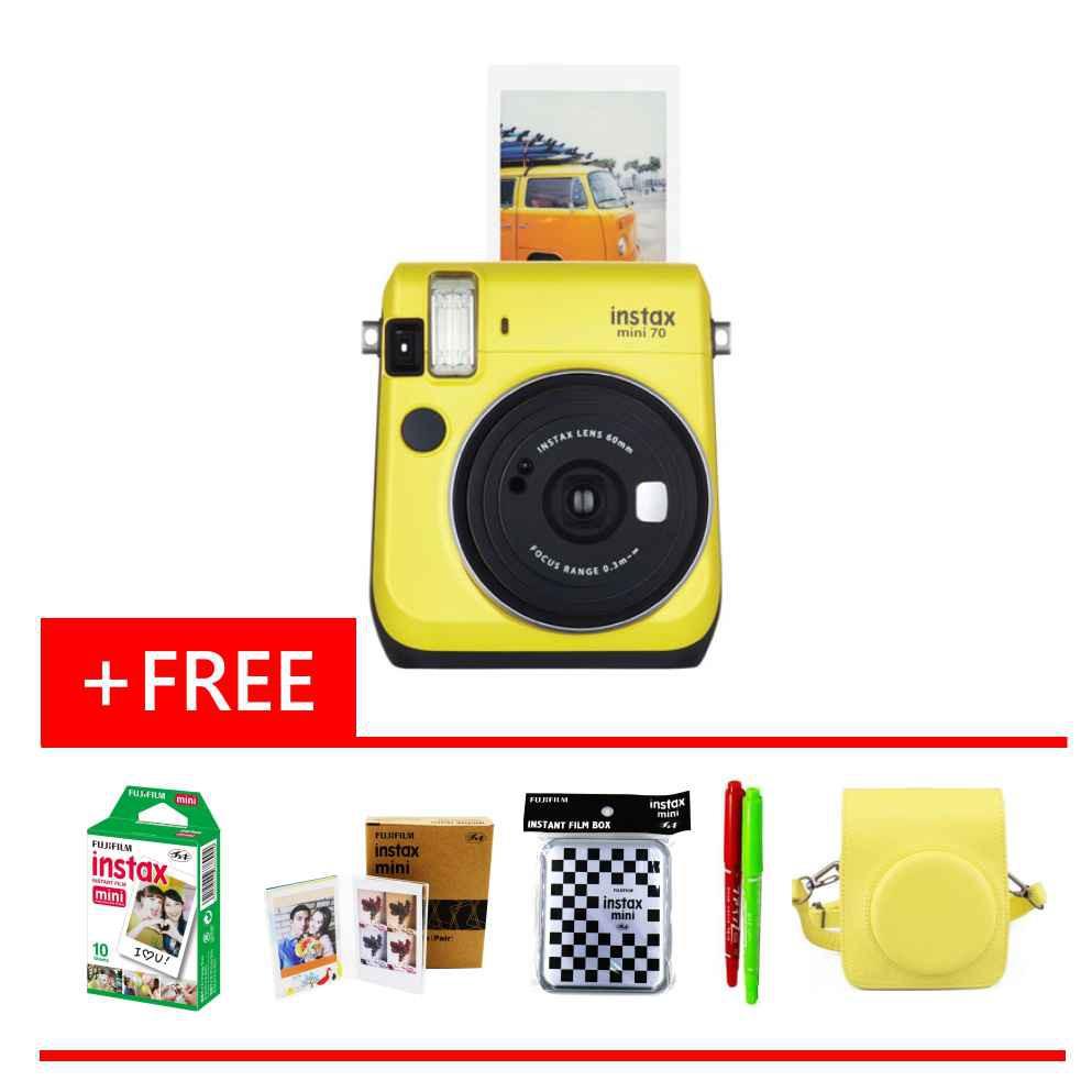Fujifilm Instax 70 (Film + Photo Frame + Film Box + Magic Pen x 2 + Leather Case)