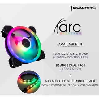 Tecware ARC Spectrum F3 ARGB 4 Fan Controller Hub Remote Control +