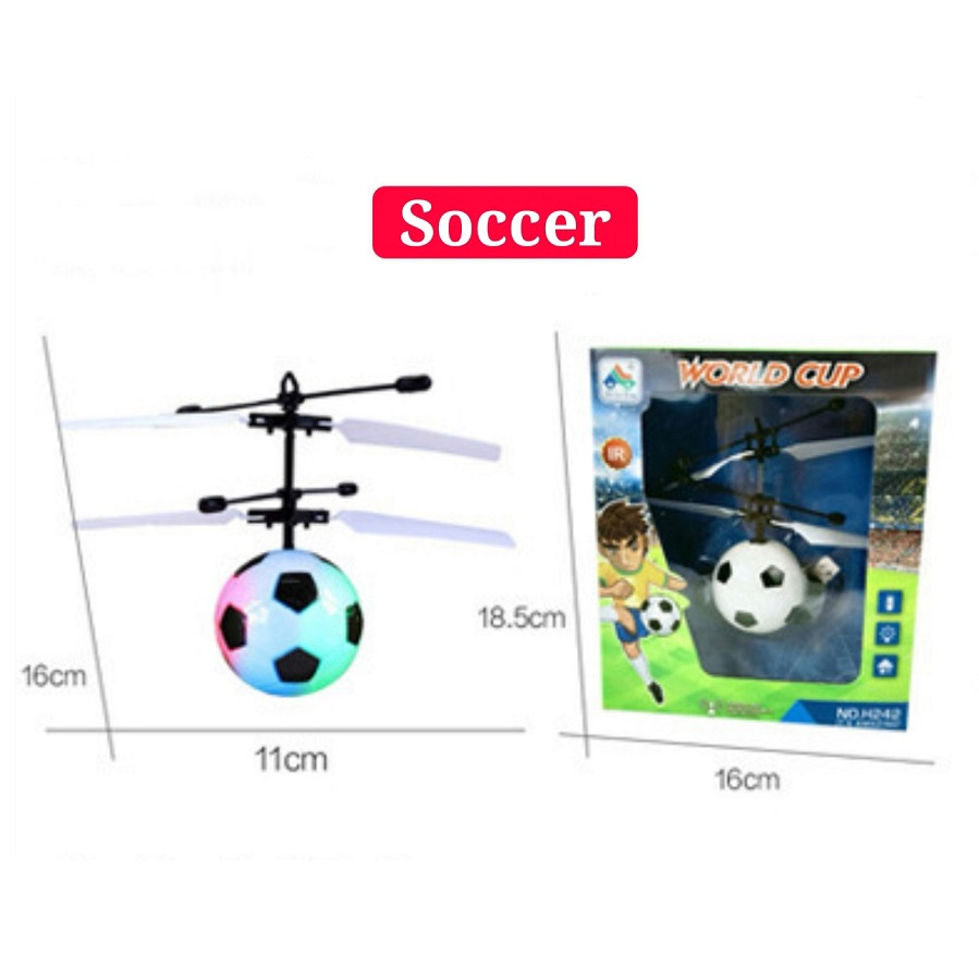 [ READY STOCK ]  Air RC Flying Ball Helicopter Built In Disco Music Shinning Led Kid Baby Mainan Toy Jualan Murah Plane