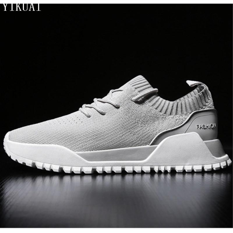 22f20074ca9d Men's running shoes breathable comfort strap travel casual mesh sport shoes
