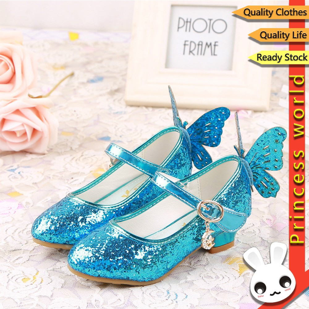 Shiny Toddler Little//Big Kid Cinderella Princess High-Heel Fish Mouth Dress-up Party Shoes