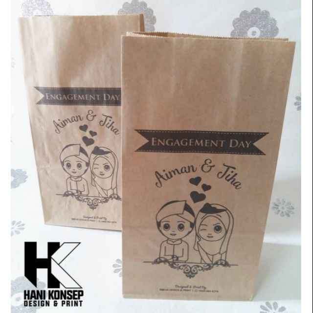 Wedding Or Engagement Printed Paper Bag