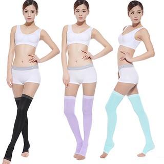 Women Slim Sleeping Beauty Leg Warmer Compression Burn Fat Thin Socks  Stockings b8632c46b522