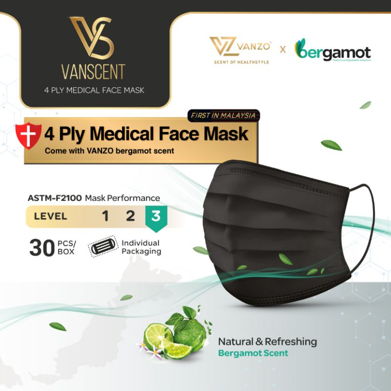 Vanzo Mask/VANSCENT 4PLY Medical Face Mask 4PLY MEDICAL FACE