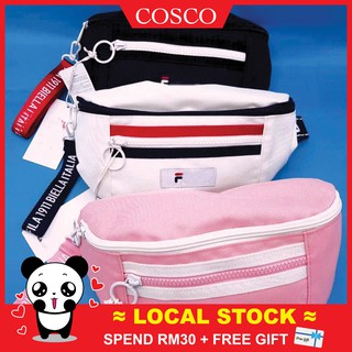 675796aade ✨LOCAL STOCK✨FILA Unisex Sporty Waist Pack Chest Bag Messenger Bag  韩版腰包时尚百搭单肩包
