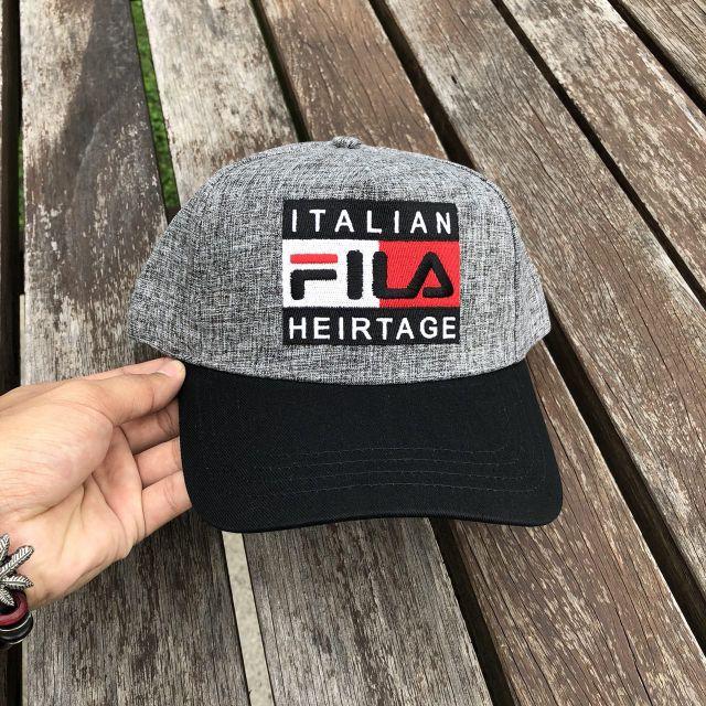 1320d4ffb57 Fila Italian Heritage Cap   Grey