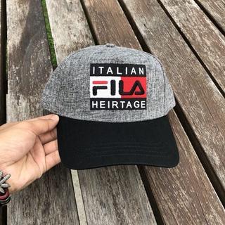 Fila Italian Heritage Cap / Grey | Shopee Malaysia