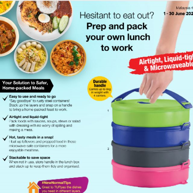 Tupperware Microwavable Round - Click To Go