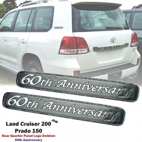 Rear Quarter Panel 60th Logo Emblem Badge For Toyota Land
