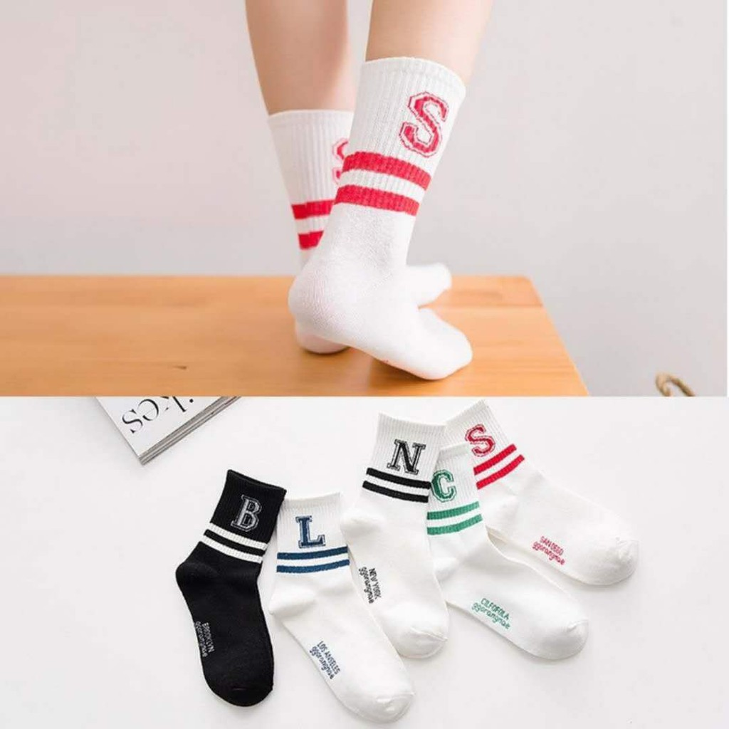 Soft Unique Men Women Short Ankle Socks Cute Alphabet Cotton Warm Socks HOT
