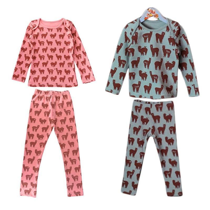 c417492cc Baby Girl Boy Sleepwear Toddlers Kids Girls Nightwear clothing suit ...