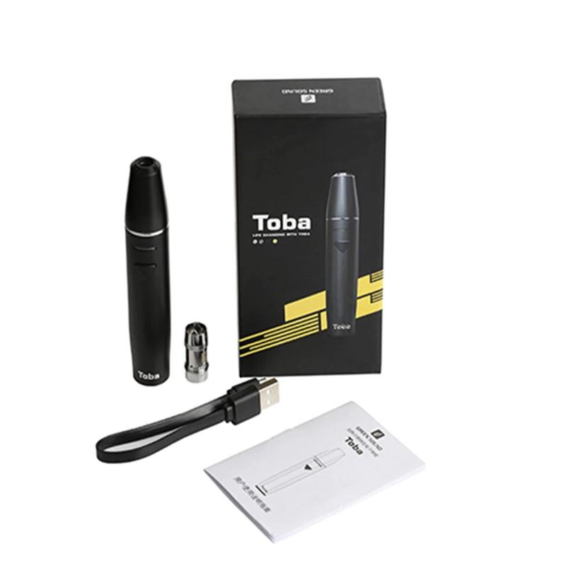 toba Heating Vape Kit Tobacco Cartridge E Cigarette Dry Herb Vaporizer pen