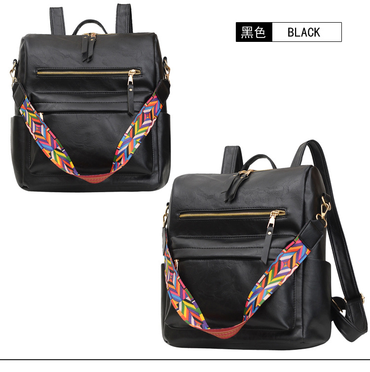GDeal Large Capacity Korean Fashion PU Leather Multifunctional College Leisure Backpack Four Colours