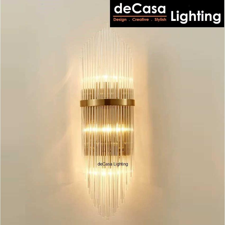 DECASA LIGHTING L Size Modern Glass Wall Light Indoor Decorative Wall Lamp Bedroom Bedside Lighting Lampu Dinding (2002)
