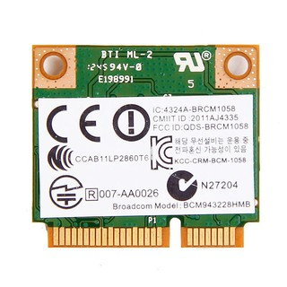 Broadcom BCM94313HMGB b/g/n Wireless WiFi + Bluetooth 4 0 Combo Card