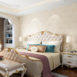 Pvc Wallpaper Wall Sticker Waterproof Bedroom Warm European Living Room Decoration