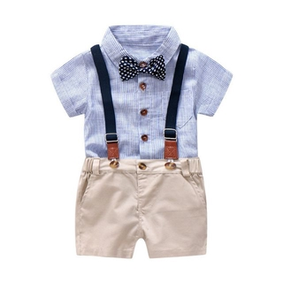 b65b8a632 Baby Boy Gentleman Clothes Set Summer Suit Toddler Kid Party Bow ...