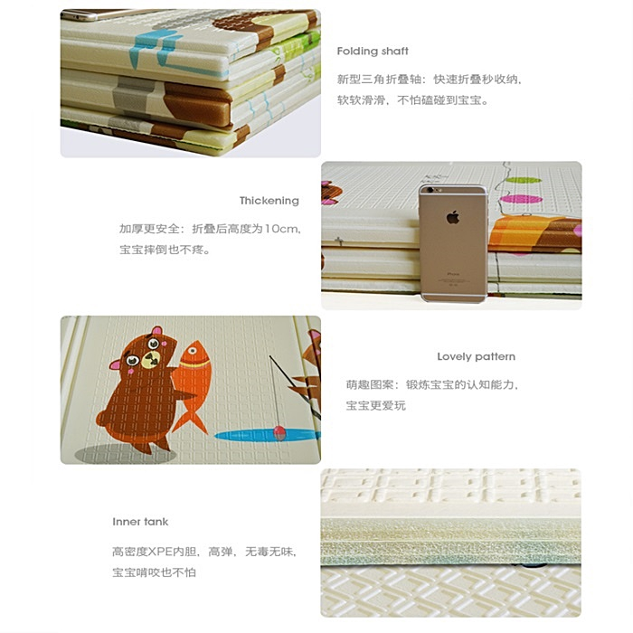 MALAYSIA] 200X180CM KARPET SAIZ BESAR Folding Baby Play Mat Playmats Living Room Carpet Foldable