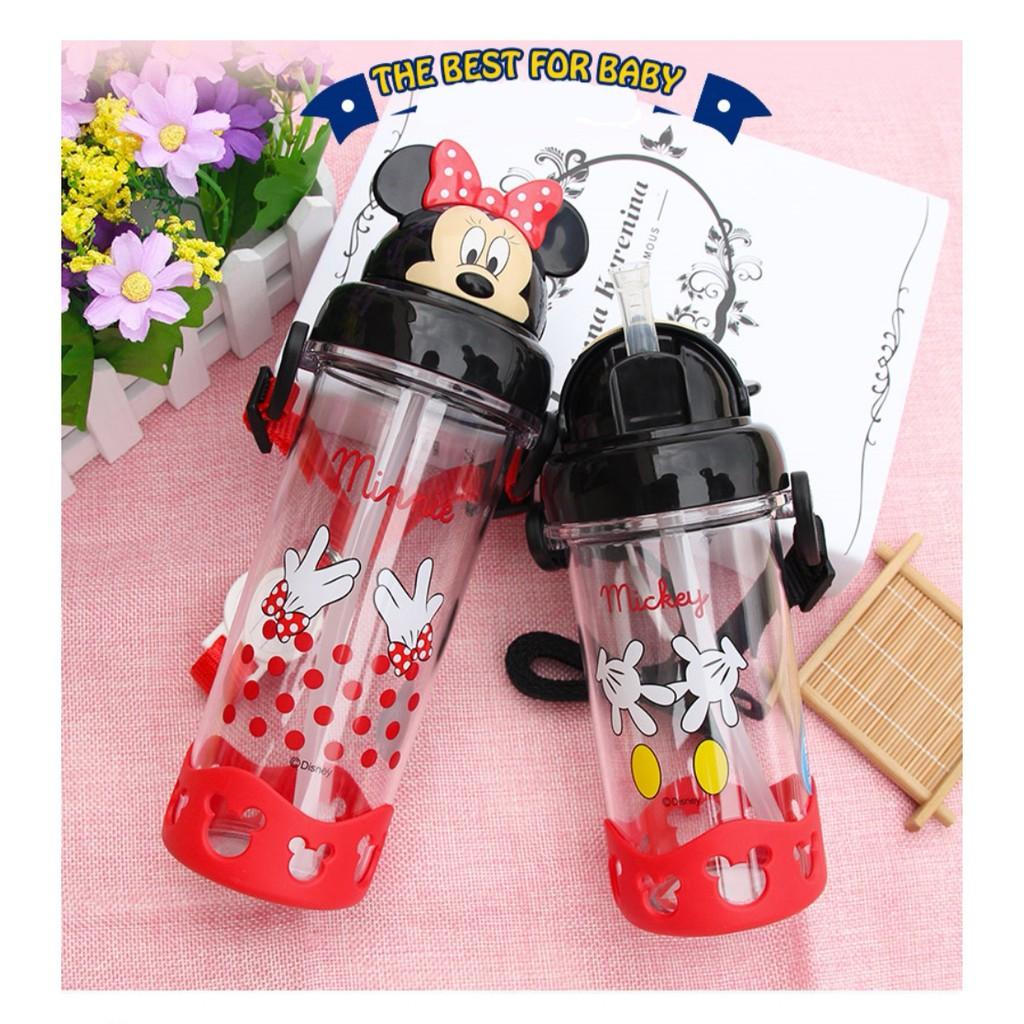 [ READY STOCK ]  500ML Disney Mickey Minnie Mouse Cute Cartoon Water Bottle Jualan Murah Kitchen Kid Baby Air Minunam