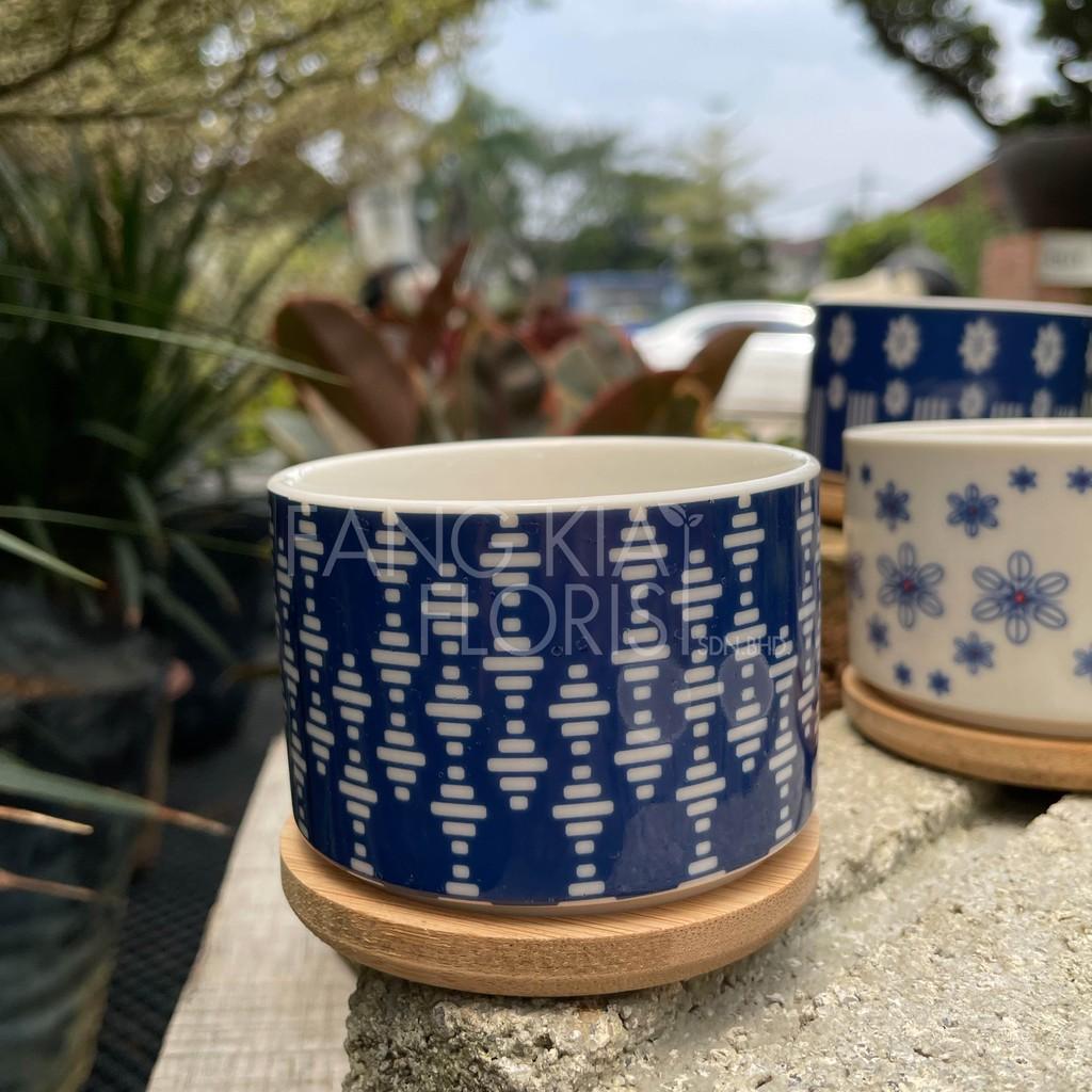 [IGL] Flower pot art series 8cm x 6cm ceramic pot [ready stock]