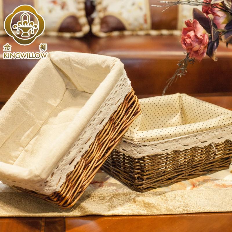 Storage basket desktop storage box wicker weaving crafts