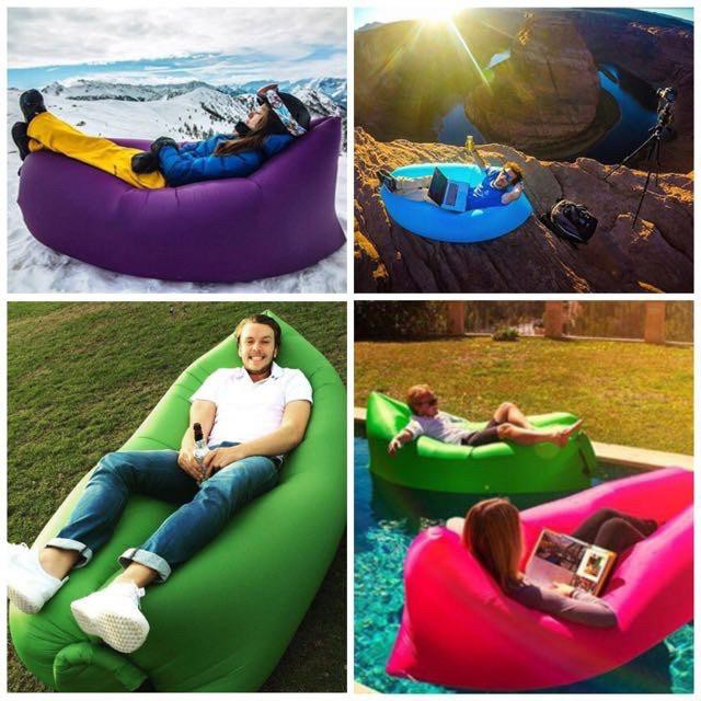 OutDoor AirBed Sofa Camping Hiking Sports New Inflatable AirBag Sofa Lounge Sleeping bag Camping Bed Outdoor Beach Couch