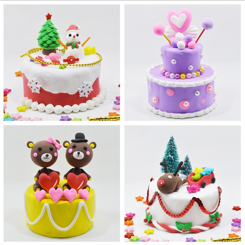 Brilliant Cute Birthday Cake Light Clay Diy Children Kids Classic Toy Personalised Birthday Cards Veneteletsinfo