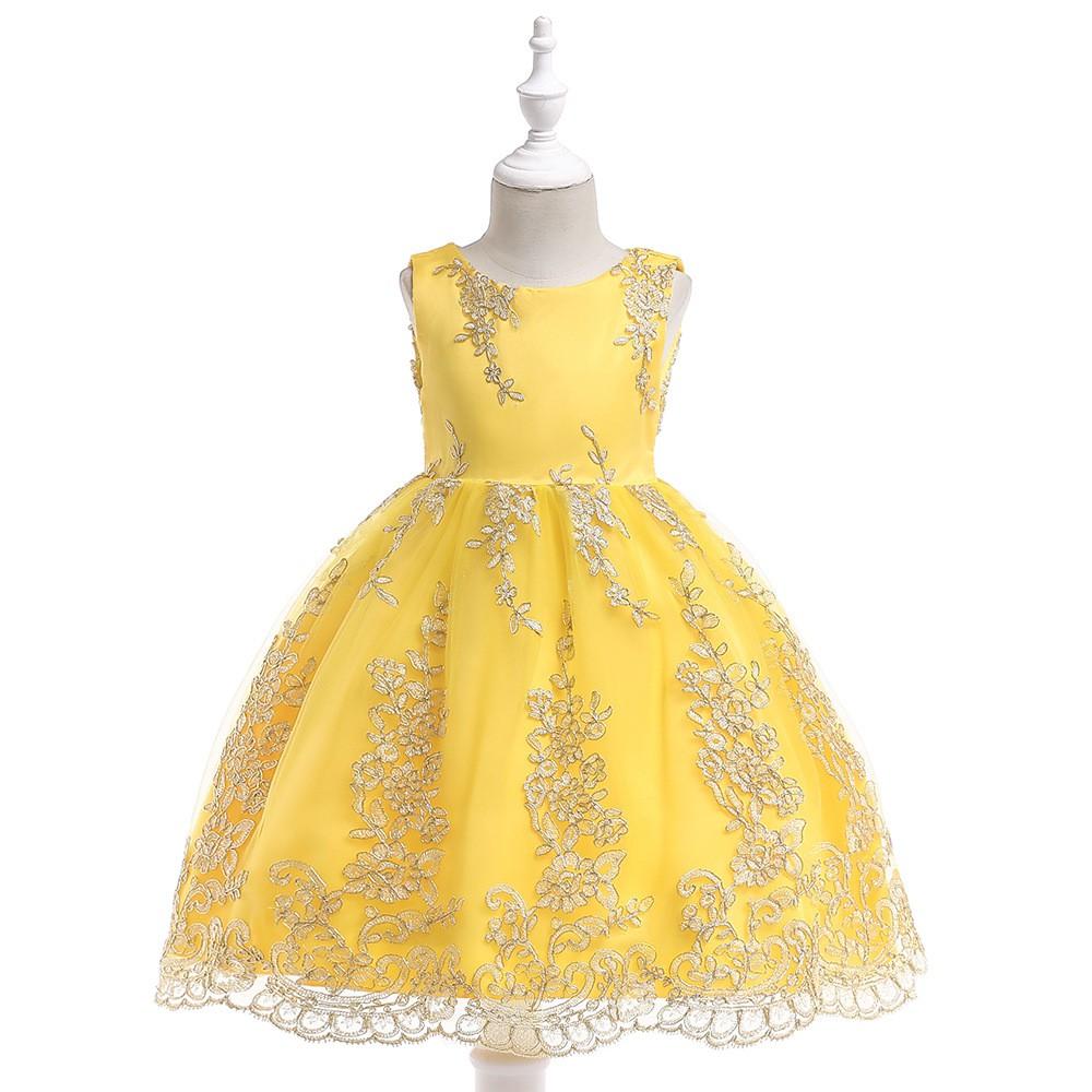 de60cf8e37eb Kids Diiner Dress Flower Girl   Baby Party Gaun Dresses - Black Dot ...