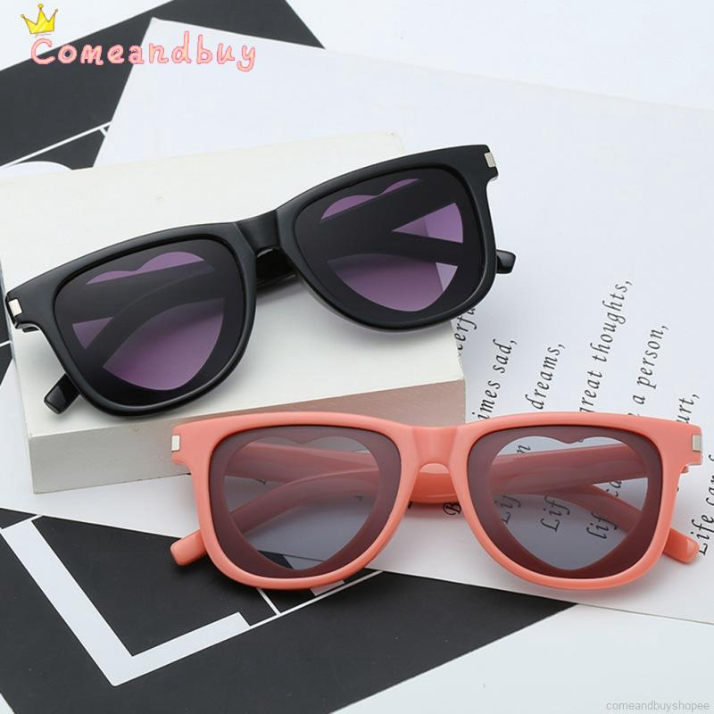 Fashion Colour Love Heart Square Frame Personality Sunglasses