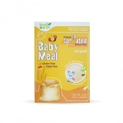 Love Earth Organic Sprouted Brown Rice Baby Meal - Original 乐儿有机宝宝米糊 - 原味 120g