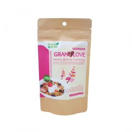 Love Earth Hearty Quinoa Cranberry Granolove 80g Granolove 小小米蔓越莓格兰诺拉 80公克 (盒装)