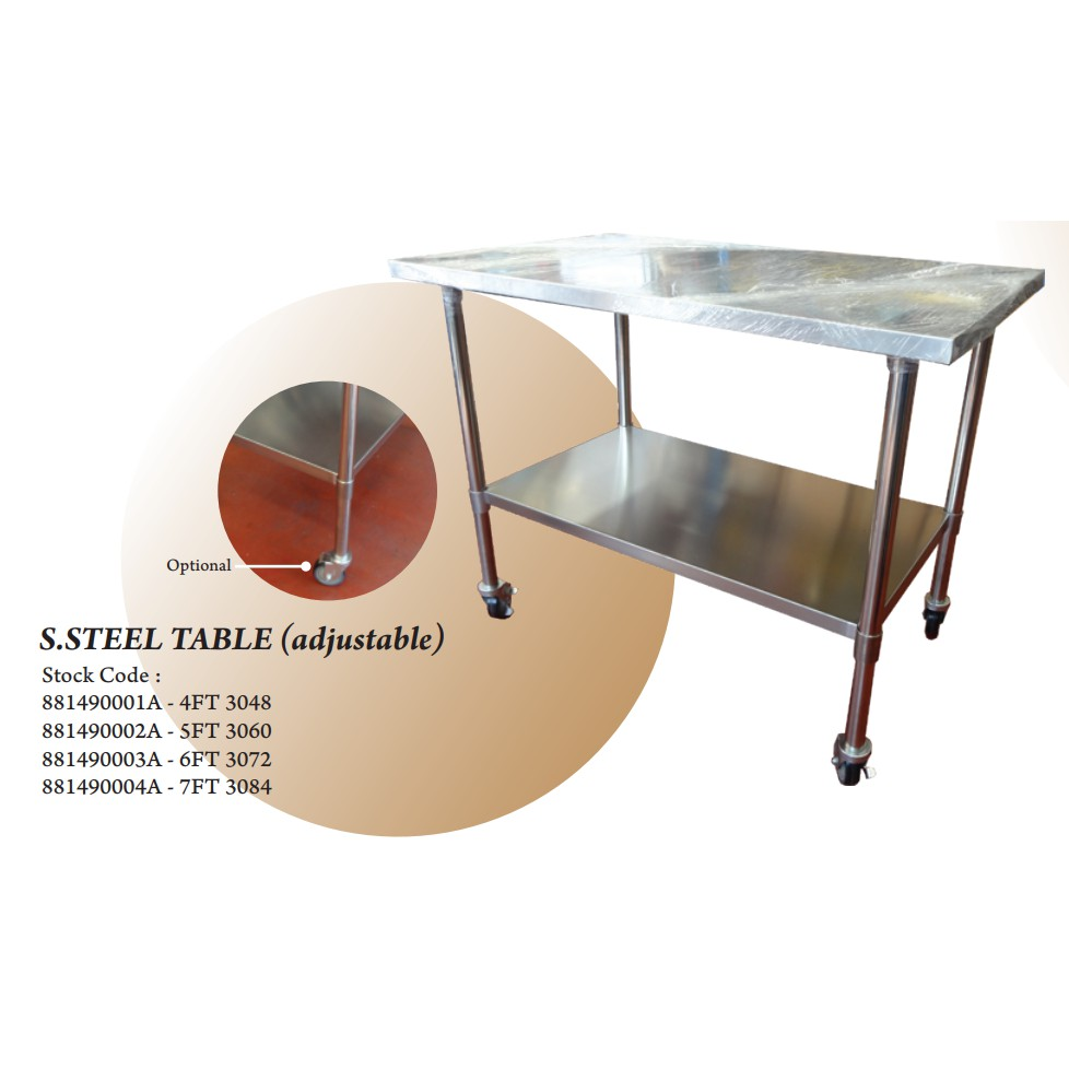 4FT 7FT THE BAKER STAINLESS STEEL BAKERY FOOD KITCHEN TABLE