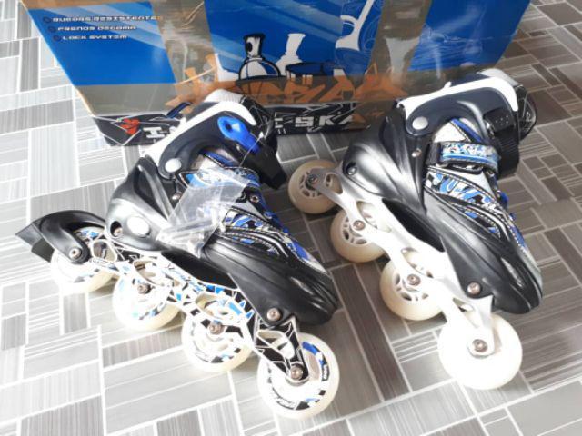 Inline Skates Roller Blade Adjustable Kids Long Feng Red Graffity ... 9521fd293b