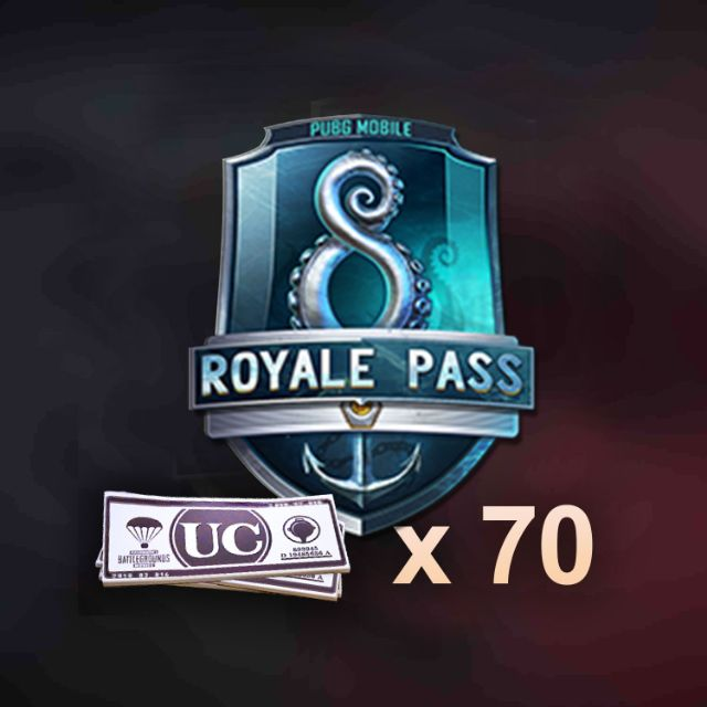 Royale Pass 8 PUBG MOBILE with 70UC