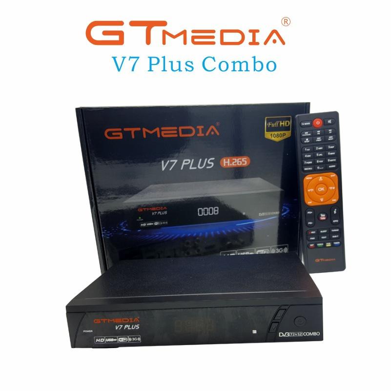 GTmedia V7 Plus COMBO DVB S2 DVB T2 PowerVu Biss Cccam High Definition  Machine