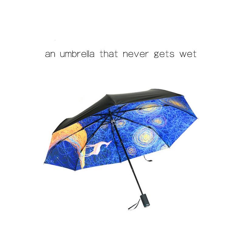 c5880560d0cc REALBRELLA Fashion ART Designer Umbrella with Gift Box, Compact Waterproof