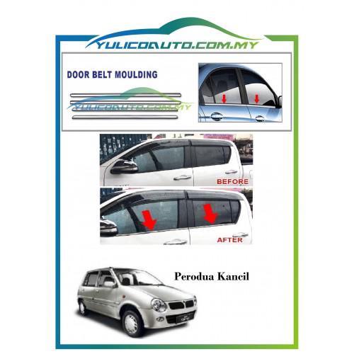 Perodua Kancil Chrome Window Trim/Lining/Door Belt Moulding | Shopee