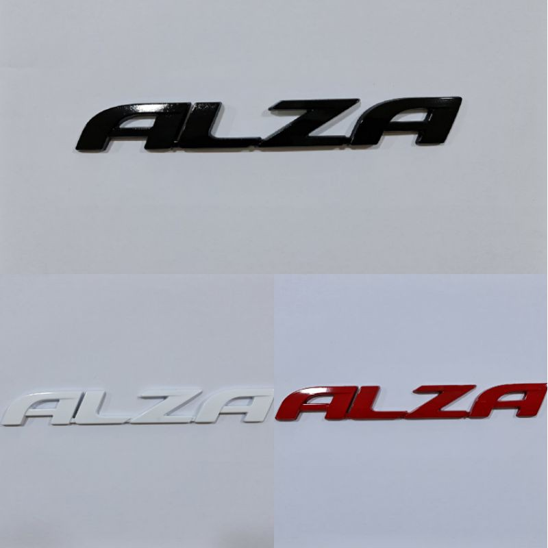 PERODUA ALZA CAR AUTO RACING LOGO EMBLEM STICKER / WORD EMBLEM - ALZA