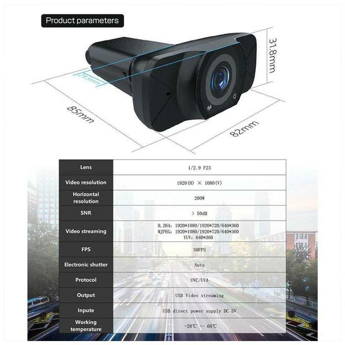 MALAYSIA: KAMERA 1080P USB Full-HD Webcam Camera For PC Desktop Laptop (1920x1080) Web Camera With Microphone