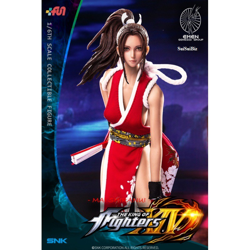 Anime King of Fighters XIII Mai Shiranui Action Figure New No Box  Red 27cm