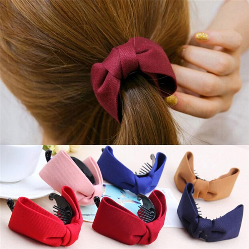 WHTH Women Hair Claw Big Bows Hairpins ที่ติดผม Clips Hair Access