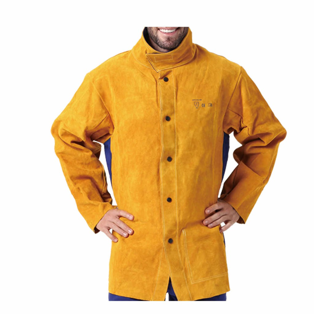 97281bae845a5 Leather Welding Jacket Flame/Heat/Abrasion Resistant Long Sleeve Working  Jacket