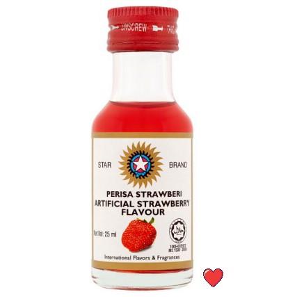 Star Brand Artificial Strawberry Flavour / Perisa Strawberi @ 25ml ( Free fragile + bubblewrap packing )